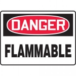 "Accuform MCHL231VA, Aluminum OSHA Sign with Legend ""Danger Flammable"""