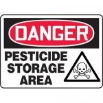 "Accuform MCHL234XF, Dura-Fiberglass OSHA Sign ""Pesticide Storage Area"""