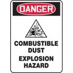 "Accuform MCHL236XT, OSHA Sign ""Combustible Dust Explosion Hazard"""