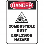 """Accuform MCHL238XF, OSHA Sign """"Combustible Dust Explosion Hazard"""""""