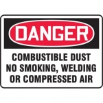"Accuform MCHL239XL, OSHA Sign ""Combustible Dust No Smoking…"""