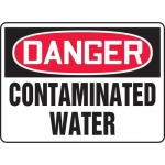 "Accuform MCHL240XP, Accu-Shield OSHA Sign ""Danger Contaminated Water"""