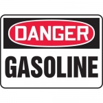 "Accuform MCHL245VA, Aluminum OSHA Sign with Legend ""Danger Gasoline"""