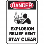 """Accuform MCHL247VA, OSHA Sign """"Explosion Relief Vent Stay Clear"""""""