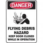 """Accuform MCHL248XF, OSHA Sign """"Flying Debris Hazard Keep Door…"""""""