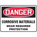 """Accuform MCHL250XL, OSHA Sign """"Corrosive Materials Wear Required…"""""""