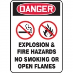 "Accuform MCHL260VA, OSHA Sign ""Danger Explosion & Fire Hazards No…"""