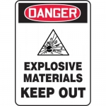 """Accuform MCHL261XV, OSHA Sign """"Danger Explosive Materials Keep Out"""""""