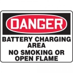"Accuform MCHL265XL, OSHA Sign ""Battery Charging Area No Smoking…"""