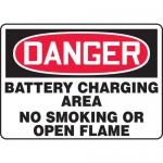 "Accuform MCHL266XV, OSHA Sign ""Battery Charging Area No Smoking…"""