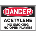 "Accuform MCHL271VA, OSHA Sign ""Acetylene No Smoking No Open Flames"""