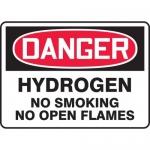 "Accuform MCHL272XV, OSHA Sign ""Hydrogen No Smoking No Open Flames"""