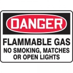 """Accuform MCHL273XV, OSHA Sign """"Flammable Gas No Smoking, Matches…"""""""