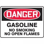 "Accuform MCHL274VA, OSHA Sign ""Gasoline No Smoking No Open Flames"""