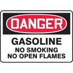 "Accuform MCHL274XV, OSHA Sign ""Gasoline No Smoking No Open Flames"""