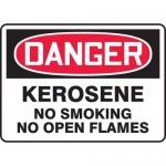 "Accuform MCHL275XV, OSHA Sign ""Kerosene No Smoking No Open Flames"""