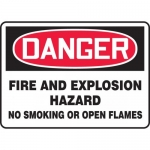 "Accuform MCHL276VA, OSHA Sign ""Fire and Explosion Hazard No…"""