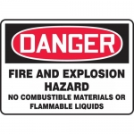 "Accuform MCHL278XL, OSHA Sign ""Danger Fire and Explosion Hazard…"""