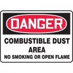 "Accuform MCHL281VA, OSHA Sign ""Combustible Dust Area No Smoking…"""