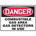 "Accuform MCHL286VA, OSHA Sign ""Combustible Gas Area Gas Detectors…"""