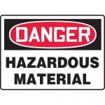 """Accuform MCHL287VA, Aluminum OSHA Sign """"Danger Hazardous Material"""""""