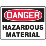 "Accuform MCHL287XL, Aluma-Lite OSHA Sign ""Danger Hazardous Material"""
