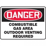 "Accuform MCHL289VA, OSHA Sign ""Combustible Gas Area Outdoor…"""