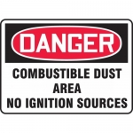 """Accuform MCHL291XT, OSHA Sign """"Combustible Dust Area No Ignition…"""""""