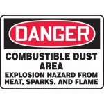 "Accuform MCHL292VA, OSHA Sign ""Combustible Dust Area Explosion…"""