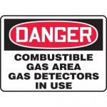 "Accuform MCHL294XT, OSHA Sign ""Combustible Gas Area Gas Detectors…"""
