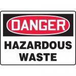 """Accuform MCHL297XF, Dura-Fiberglass OSHA Sign """"Danger Hazardous Waste"""""""