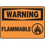 "Accuform MCHL305XF, Dura-Fiberglass Sign ""Warning Flammable"""