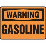 "Accuform MCHL307VA, Aluminum OSHA Sign with Legend ""Warning Gasoline"""