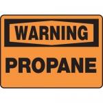"""Accuform MCHL310VA, Aluminum OSHA Sign with Legend """"Warning Propane"""""""
