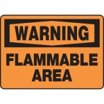 "Accuform MCHL311VP, Plastic OSHA Sign ""Warning Flammable Area"""