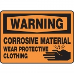 """Accuform MCHL312XL, OSHA Sign """"Corrosive Material Wear Protective…"""""""
