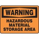 "Accuform MCHL320XL, OSHA Sign ""Hazardous Material Storage Area"""