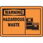 """Accuform MCHL324XF, OSHA Sign """"Warning Hazardous Waste"""" & Symbol"""
