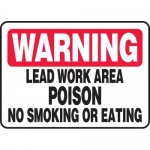"Accuform MCHL326VA, Sign ""Lead Work Area Poison No Smoking…"""