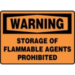 """Accuform MCHL335XL, OSHA Sign """"Storage of Flammable Agents…"""""""