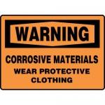 "Accuform MCHL337XL, OSHA Sign ""Corrosive Materials Wear Protective.."""
