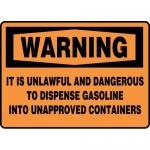 "Accuform MCHL338VA, OSHA Sign ""It is Unlawful and Dangerous…"""