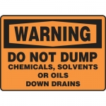 "Accuform MCHL339VA, OSHA Sign ""Do Not Dump Chemicals Solvents…"""