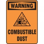 "Accuform MCHL346VA, Aluminum OSHA Sign ""Warning Combustible Dust"""