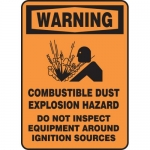 "Accuform MCHL366XL, Sign ""Combustible Dust Explosion Hazard…"""