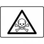 """Accuform MCHL504VA, Aluminum Toxic Poison Graphic Sign """"Poison Symbol"""""""