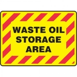 "Accuform MCHL508XF, Dura-Fiberglass Sign ""Waste Oil Storage Area"""