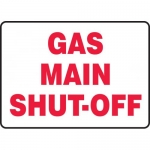"Accuform MCHL530VA, Aluminum Sign with Legend ""Gas Main Shut-Off"""