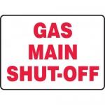 "Accuform MCHL530XF, Dura-Fiberglass Sign ""Gas Main Shut-Off"""