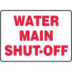 "Accuform MCHL533XP, Accu-Shield Sign with Legend ""Water Main Shut-Off"""